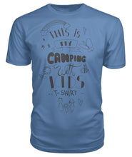 "Load image into Gallery viewer, ""This is my camping with kids T-shirt ""- Premium Unisex Tee"