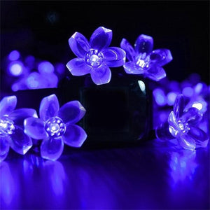 Solar Waterproof  String Lights Of 50 LED Flowers