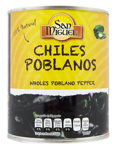 Canned Poblano Chillis 780g