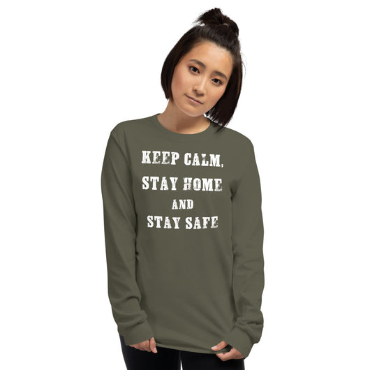 Keep Calm & Stay Home - T-Shirt à Manches Longues