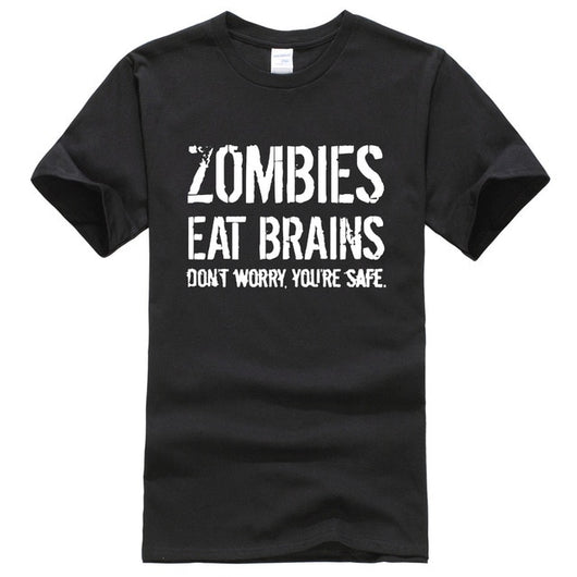 T-Shirt Fun Unisexe - Zombies Eat Brains