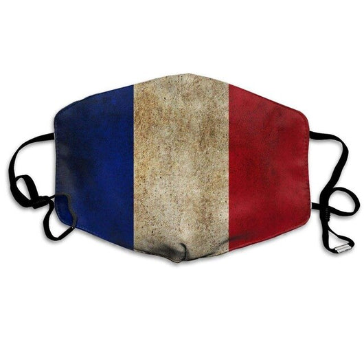 Masque de Protection Lavable Réutilisable Drapeau France