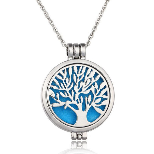 Tree of Life - Collier à Pendentif Diffuseur d'Arômes