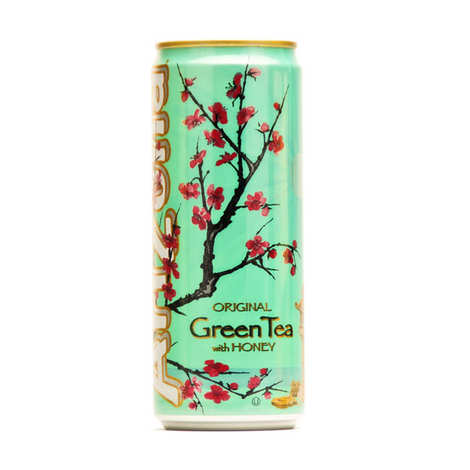Arizona Green Tea With Honey Bevanda Al Te' Verde Con Miele 330ml - American Mini Market