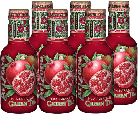 Arizona Pomegranate Tea Bevanda Al Te' Verde E Succo Di Melograno 6X500Ml - American Mini Market