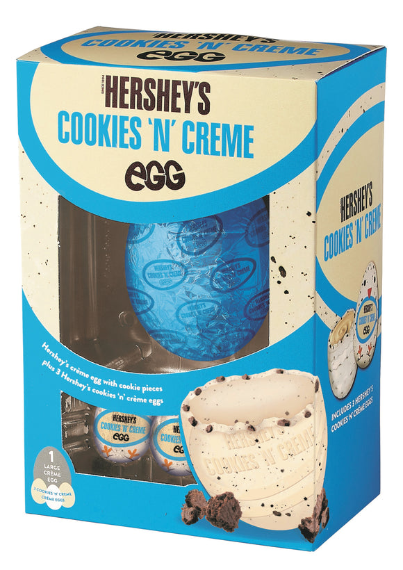 Hershey's Cookie n Creme Easter Egg Uova Di Pasqua Limited Edition 257gr (1 Large Creme Egg + 3 Cookie n creme Eggs) - American Mini Market