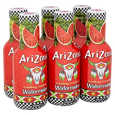 Arizona Watermelon Bevanda Naturale Al Gusto Anguria 6X500Ml - American Mini Market