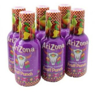 Arizona Fruit Punch Bevanda Naturale A Base Di Succhi Di Frutta Mista 6X500Ml - American Mini Market