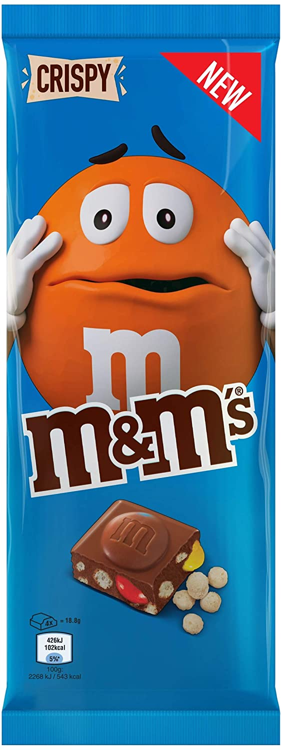 M&M'S MILK CHOCOLATE WITH MMS MINIS & RICE CRISPIES 150GR - American Mini Market