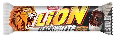 Nestle Lion Black & White Wafer Al Cacao Ricoperto Di Cioccolato Bianco 40G - American Mini Market