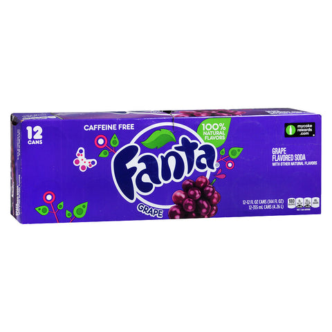 Fanta Grape Bevanda Frizzante Al Gusto Uva 12X355Ml - American Mini Market