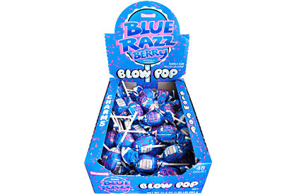 Blow Pops Blue Razz Berry Lampone - American Mini Market