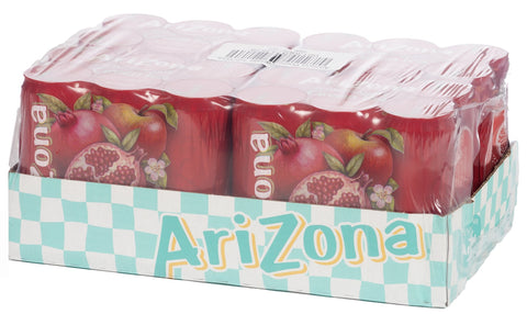 Arizona Pomegranate Tea Bevanda Al Te' Verde E Succo Di Melograno 24X330Ml - American Mini Market