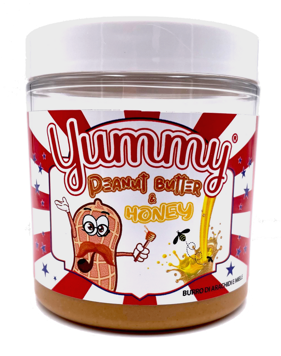 Yummy Peanut Butter & Honey Spread Burro Di Arachidi E Miele 200gr