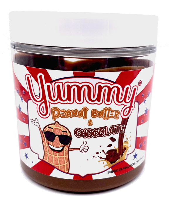 Yummy Peanut Butter & Chocolate Spread Burro Di Arachidi E Cioccolata 200gr