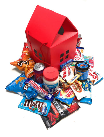 Sweet Home Mistery Box Snack Americani - IDEA REGALO A FORMA DI CASA