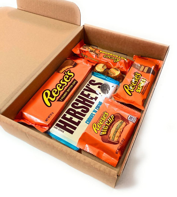 REESE'S HERSHEY'S MISTERY BOX  DI SNACK AMERICANI  (Reese's Mistery Box, 5/7 pezzi) - American Mini Market
