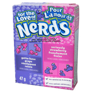 Wonka Nerds Grape & Strawberry Microcaramelle Al Gusto Uva E Fragola 47G - American Mini Market