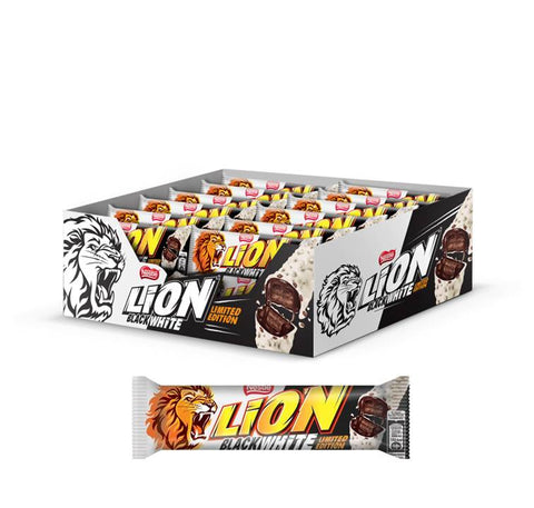 Nestle Lion Black & White Wafer Al Cacao Ricoperto Di Cioccolato Bianco 40X40G - American Mini Market