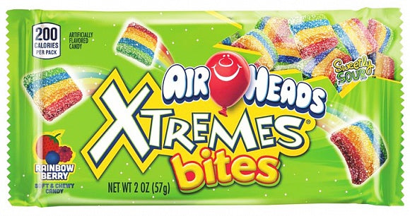 Airheads Xtremes Sour Rainbow Berry Bites Caramelle Americane 57G - American Mini Market