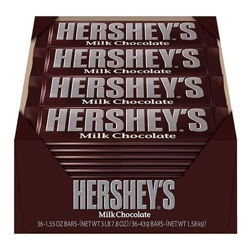 HERSHEY'S MILK CHOCOLATE BAR 45G X 36 - American Mini Market