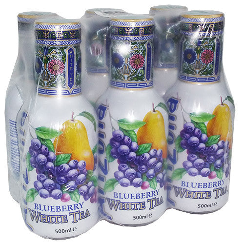 Arizona White Tea Blueberry Bevanda Al Te' Bianco Con Succo Di Mirtillo E Pera 6X500Ml - American Mini Market