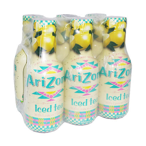 Arizona Iced Tea Lemon Bevanda Al Te' Freddo Al Limone 6X500Ml - American Mini Market