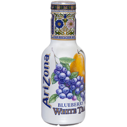 Arizona White Tea Blueberry Bevanda Al Te' Bianco Con Succo Di Mirtillo E Pera 500Ml - American Mini Market