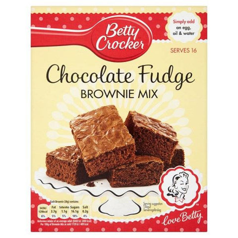 Betty Crocker Chocolate Fudge Brownie Mix Preparato Per Brownie Al Cioccolato 425g - American Mini Market