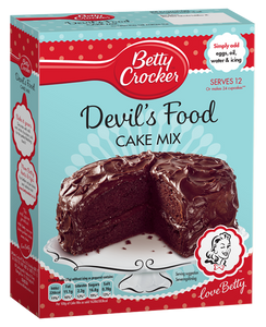 Betty Crocker Devil'S Food Cake Mix Preparato Per Torta Al Cioccolato 425G - American Mini Market
