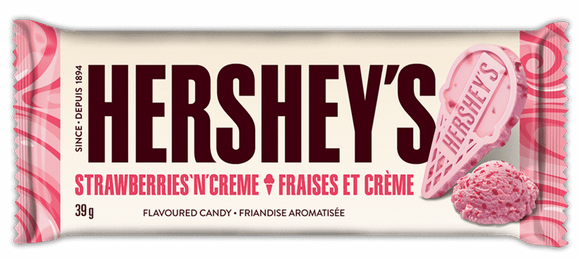 Hershey's Strawberry N Cream Barretta Al Cioccolato Bianco e Fragola 39gr
