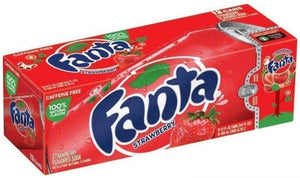 Fanta Strawberry Bevanda Frizzante Al Gusto Fragola 355Ml X 12 - American Mini Market