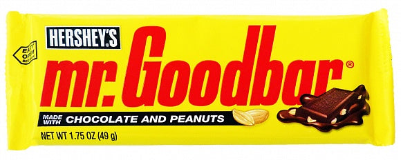 Hershey'S Mr Goodbar Chocolate Candy With Peanuts Ciocolata E Arachidi 49G - American Mini Market