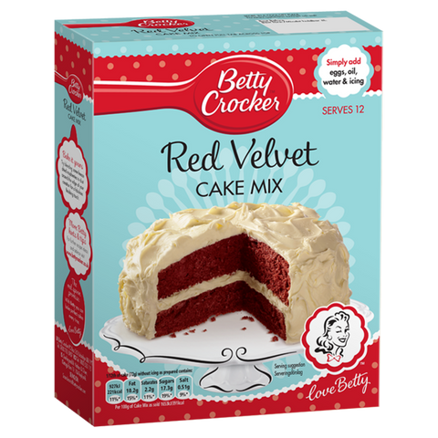 Betty Crocker Red Velvet Cake Mix Preparato Per La Torta Red Velvet 425g - American Mini Market