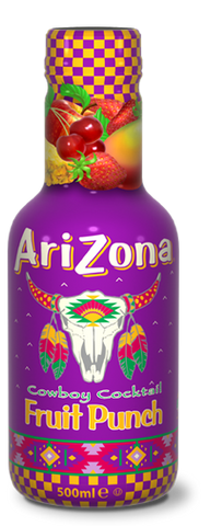 Arizona Fruit Punch Bevanda Naturale A Base Di Succhi Di Frutta Mista 500Ml - American Mini Market