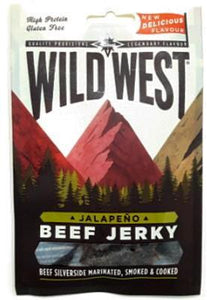 Wild West Beef Jerky Jalapeno Carne Secca Gusto Jalapeno 25G - American Mini Market