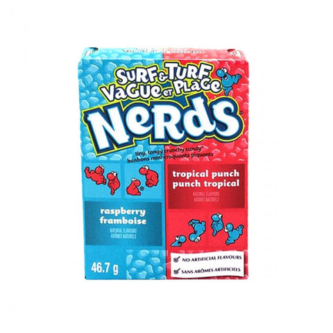 Wonka Nerds Raspberry & Tropical Punch Microcaramelle Al Gusto Lampone E Gusto Tropicale 46,7g - American Mini Market