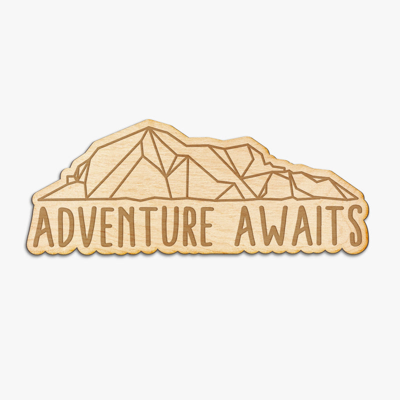 Adventure Awaits Wood Engraved Sign