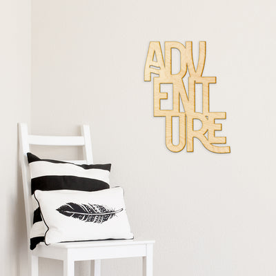 Adventure Stacked Wood Sign