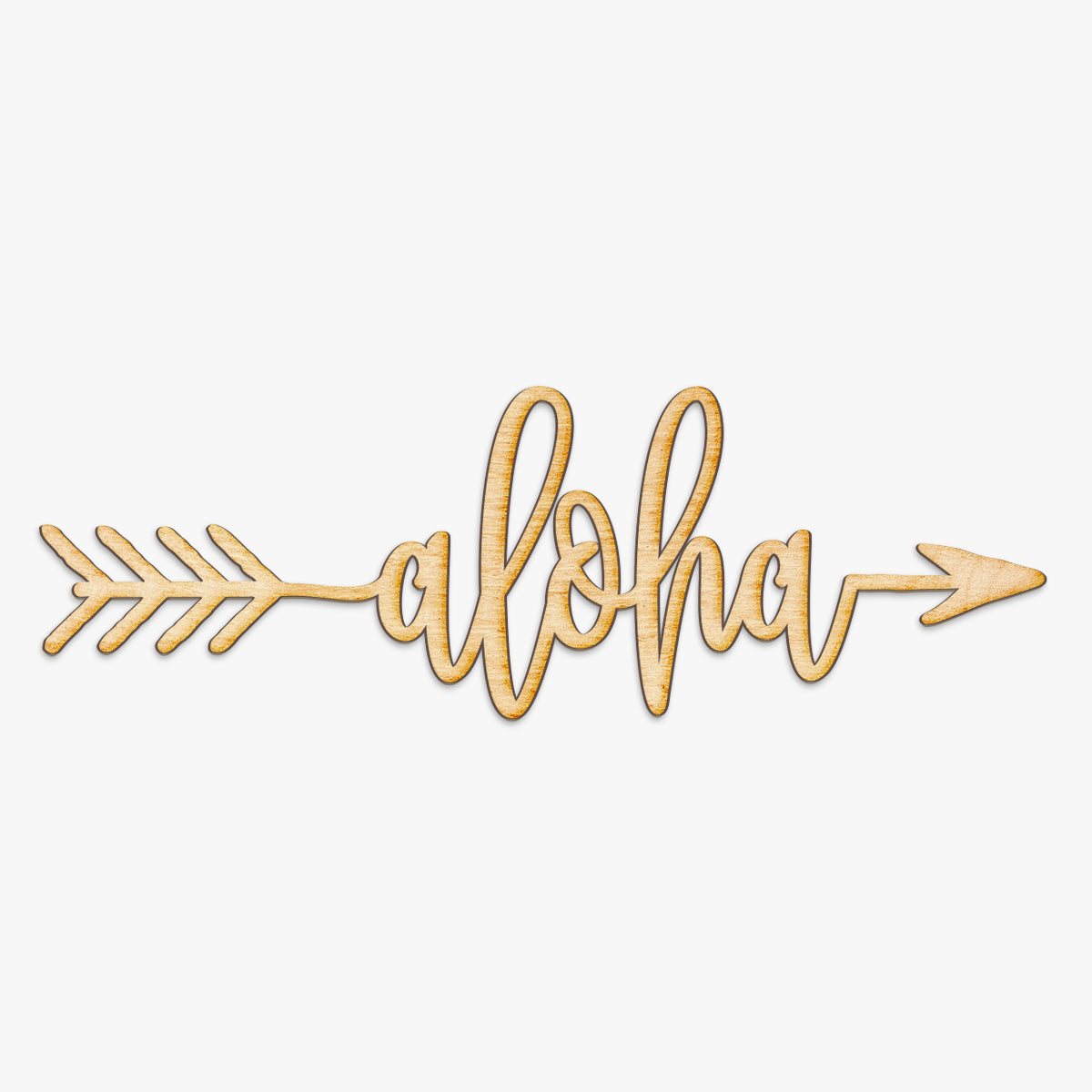 Aloha Arrow Wood Sign