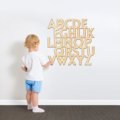 Alphabet Kids Wood Cut Sign