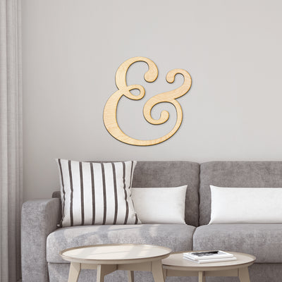 Ampersand Wood Cut Sign