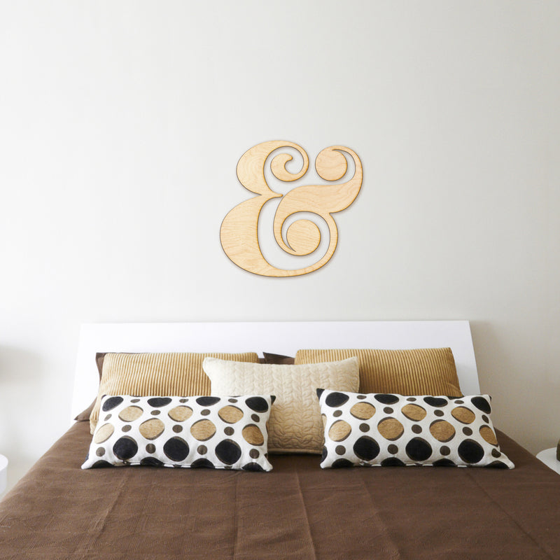 Ampersand Cut Wood Sign