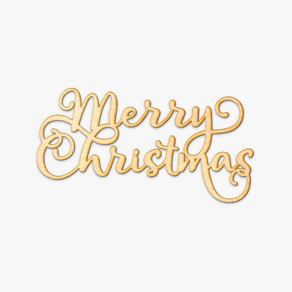 Merry Christmas Wood Cut Sign