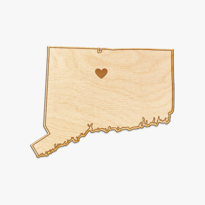 Connecticut Cut Sign With Custom Engraved Heart Placement