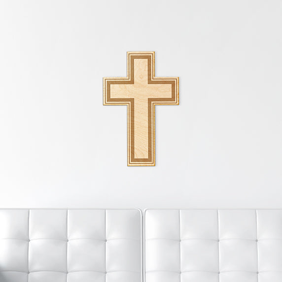 Simple Cross Wood Sign