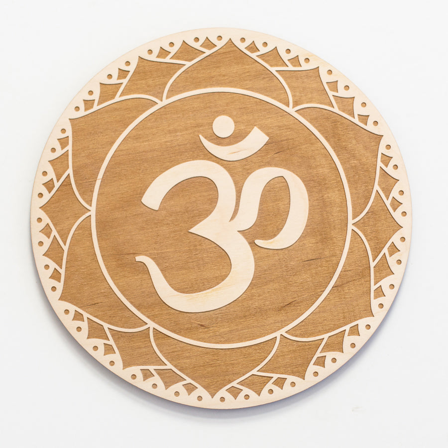 Crown Chakra Engraved Wood Sign