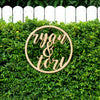 Custom Ampersand Circle Wood Cut Sign