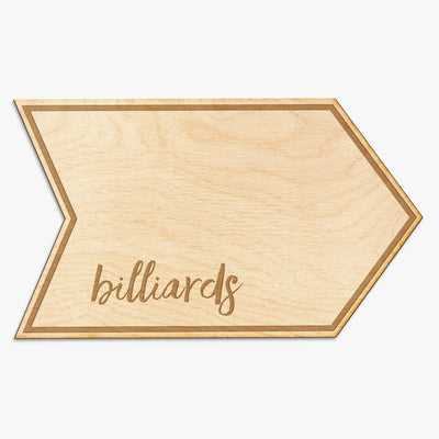 Custom Name Engraved Arrow Wood Sign