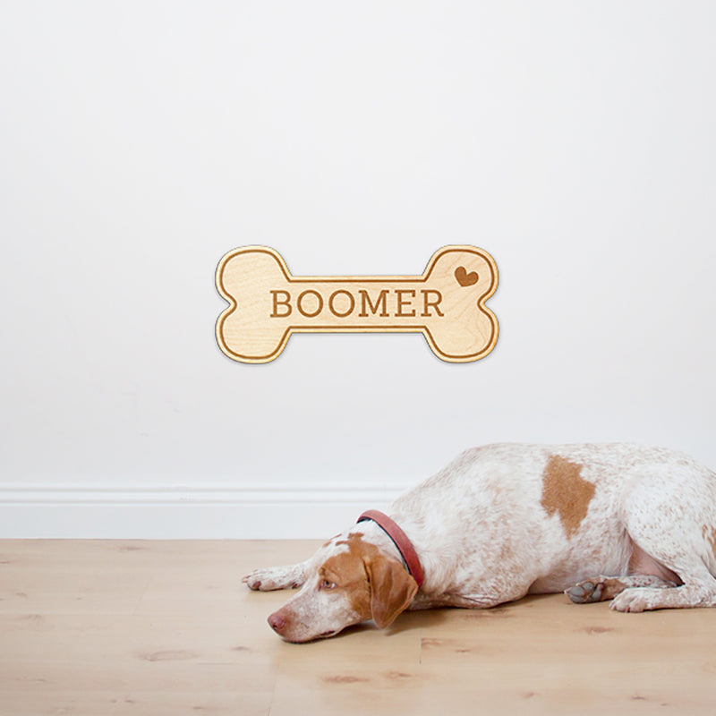 Dog Bone Custom Engraved Wood Sign